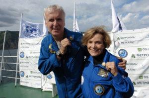 Ballard and Sylvia Earle at Mir