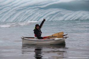 Teresa dinghy iceberg