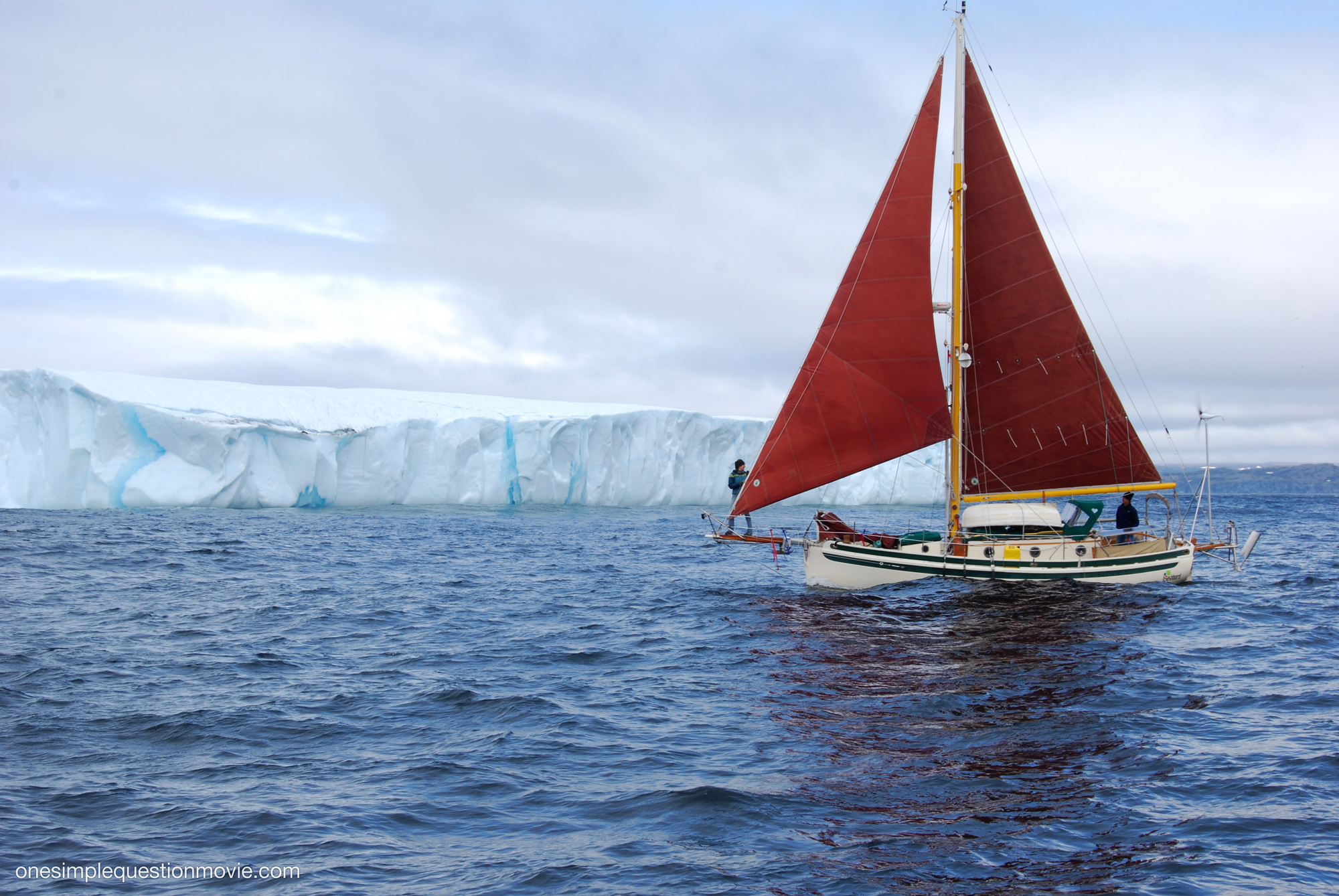 Sailboat and Iceberg
