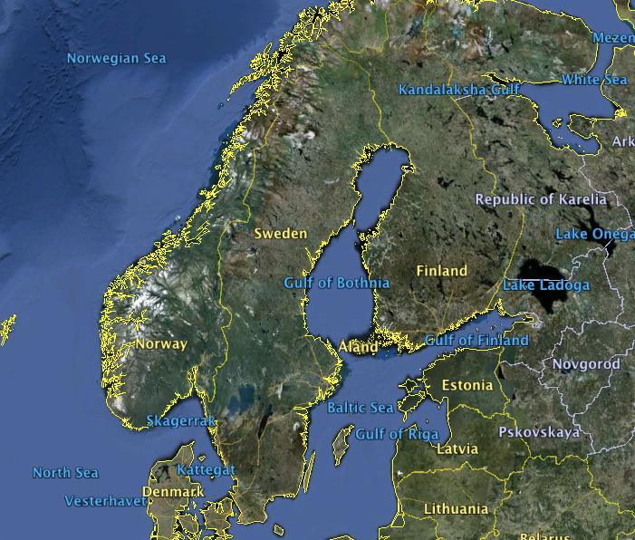 Vygogo Sweden Islands Map - Sweden map hedestad