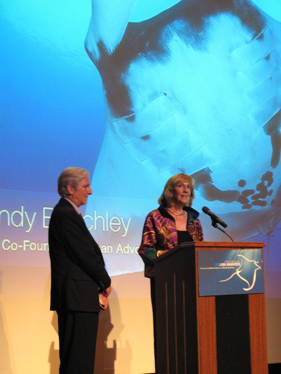 Wendy Benchley and David Helvarg addressing the audience  (© Courtney Mattison)