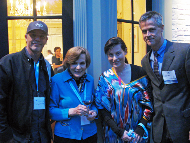 From left: Wyland, Dr. Sylvia Earle, Mara G. Haseltine, Jim Toomey (© Courtney Mattison)