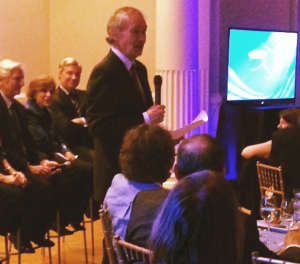 Congressman Markey received his award during a dinner following the ceremony (© Mary Kadzielski, Blue Frontier)