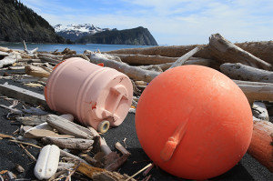 Much of the trash scattered on Gore Point Beach and elsewhere in Alaska is plastic. Photo (c) Kip Evans