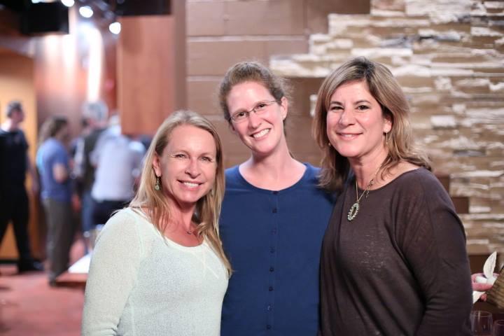 Vicki Nichols Goldstein (COCO), Mary Kadzielski (Blue Frontier), Ana M Blanco (SF Ocean Film Festival) at Friday's Blue Drinks – Photo © Jeffrey Dubinsky