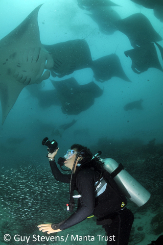 Volunteer Diver. Photo: Guy Stevens/Manta Trust