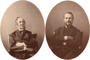 Leopold Blaschka (1822-1895) and son and artistic partner Rudolf Blaschka (1857-1939). © Rakow Research Library, The Corning Museum of Glass.