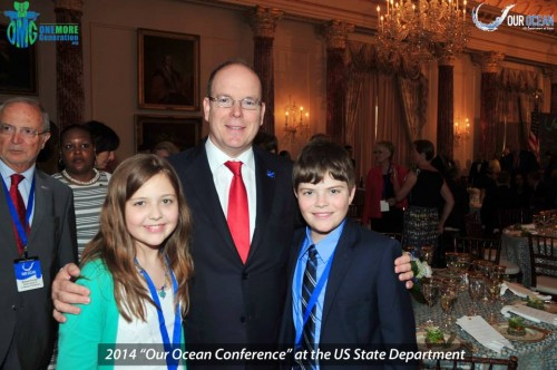 HSH Prince Albert II of Monaco with Olivia & Carter