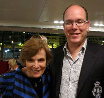 Sylvia Earle with Prince Albert II of Monaco