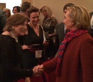 "Hilary Clinton told Sylvia Earle, ""'Hope Spots' is a good idea"" (photo by Sarah Guinan Nixon)"