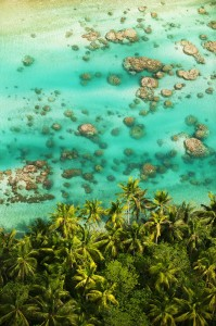 Aerial shot of the Tetiaroa reef © Tim McKenna