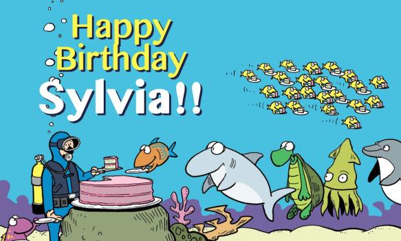 A Big Blue Happy Birthday to Dr. Sylvia Earle!