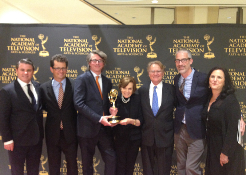 From left: Adam Del Deo (Netflix), Jack Youngelson (Writer/Producer), Peter R. Livingston Jr. (Editor), Dr. Sylvia Earle, Bob Nixon (Director), Mark Munroe (Writer/Producer), Julie Nieves (Executive Producer)