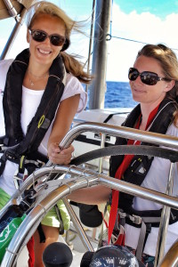 eXXpedition co-founders Lucy Gilliam and Emily Penn. Image © eXXpedition
