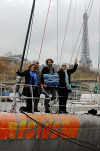 Dr. Sylvia Earle joined the Ocean and Climate Platform aboard the Tara Expédition vessel. Image courtesy Jon Slayer.