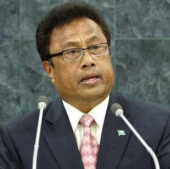 Tommy Esang Remengesau, President of the Republic of Palau, addresses the 9th plenary meeting of the General Assembly 68th session, General Debate