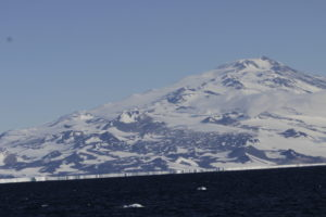 Erebus with Ross Ice Shelf in front  © Philippa Ross