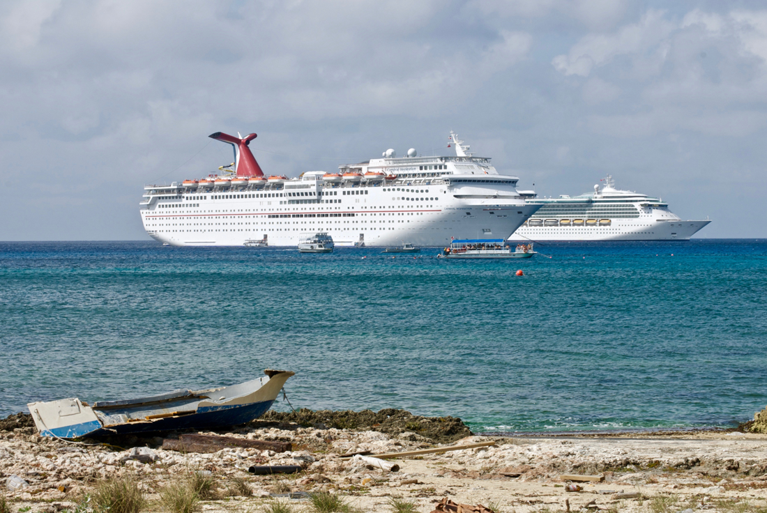 Grand-Cayman---Cruise-Ships-at-Anchor-_-by-P-Markham